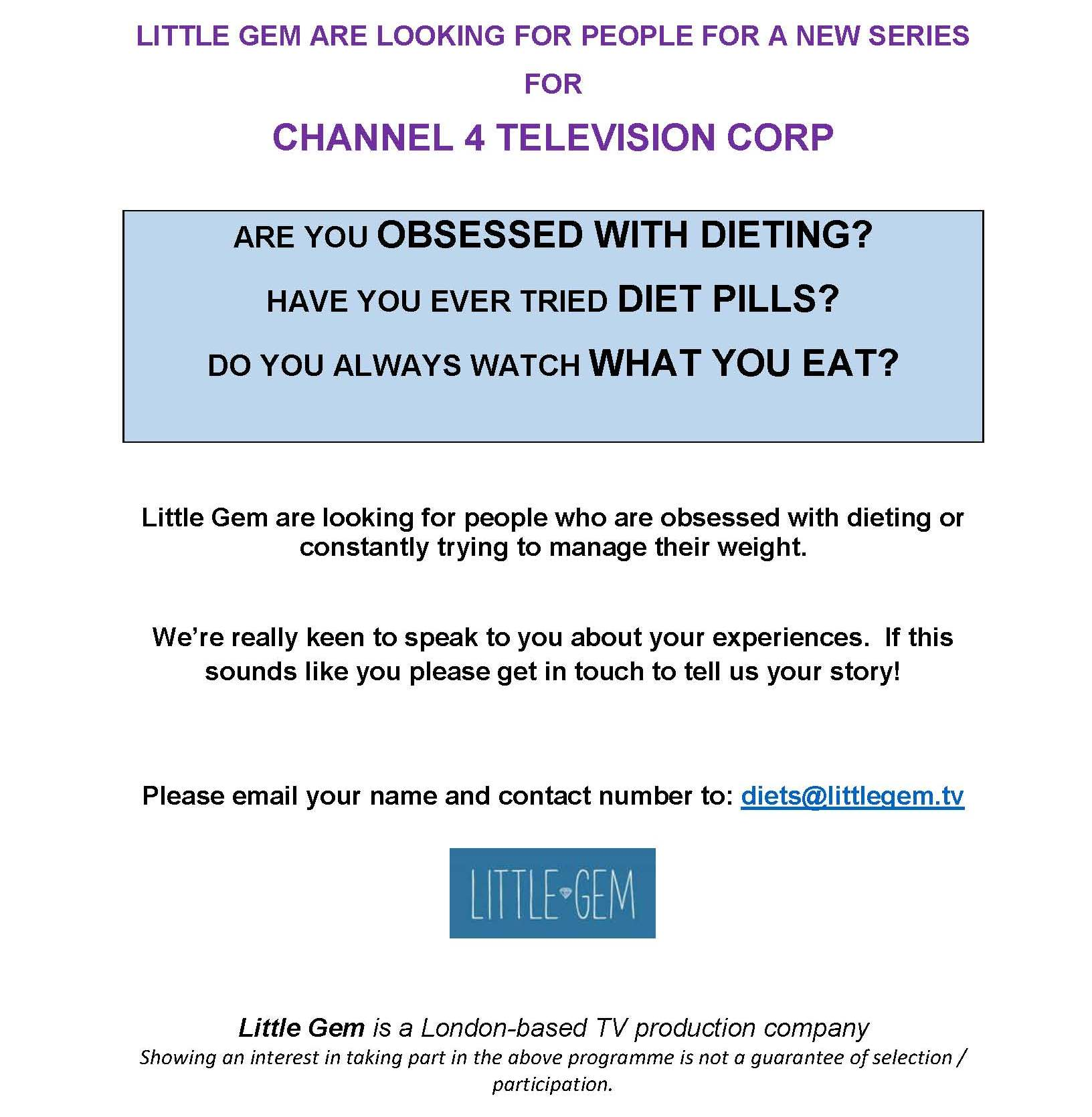 New Tv Show Looking For People Obsessed With Dieting